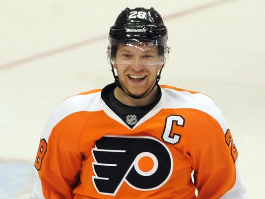 Claude Giroux looks to lead the Flyers this year. Photo courtesy of USAToday.