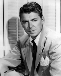 Ronald Reagan was an actor prior to his role of President of the United States. (Photo courtesy of doctormacro.com)
