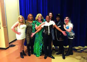 Shaq Glover (middle) and drag performers attended PrideFest. Photo courtesy of Richard Turner.