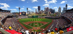 PNC Park is the home of the Pittsburgh Pirates. Photo courtesy of reddit.com.