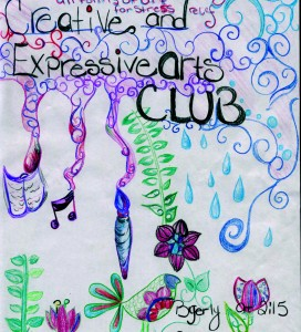 The Creative and Expressive Arts Club meets on Fridays. Photo courtesy of Nicole Lookfong.