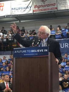 Senator Sanders made points about minimum wage and clean energy. (Maria Rovito/Snapper)