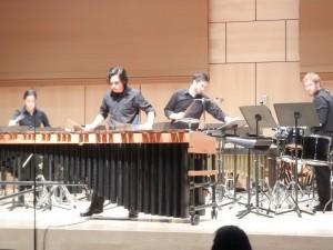 "Millersville Percussion ensemble performs ""Marimba Spiritual."" Soloist: Tim O'Leary (Colin VandenBerg/Snapper)"
