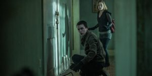 """Teens try to escape blind man in """"Don't Breathe"""". (Photo courtesy of screenrant.com)"""