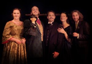 """The Black Cast pictured performed the daytime shows for """"Poe Evemore"""". (Photo Courtesy of PARenFaire.com)"""