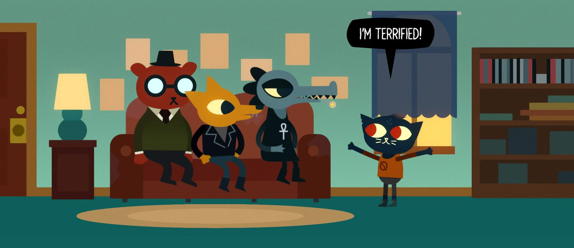 Screenshot dari gameplay NITW (sumber: https://thesnapper.millersville.edu/index.php/2017/04/12/a-closer-look-at-night-in-the-woods/)